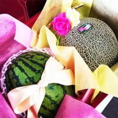 【 熊本県産 】 肥後グリーン & 小玉すいか 秀品 メロンと西瓜のフルーツギフト
